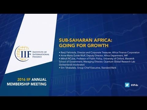 SUB SAHARAN AFRICA  GOING FOR GROWTH