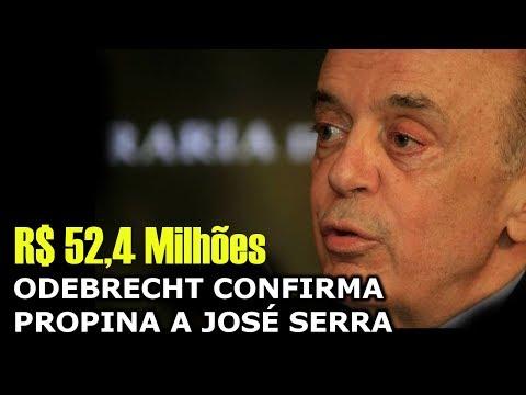 ODEBRECHT CONFIRMA PROPINA A JOSÉ SERRA - R$ 52,4 Milhões