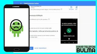 Kayıp Telefonu Bulma (Android)