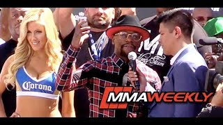 Floyd Mayweather's Grand Arrival: 'Fight Won't Go Distance'