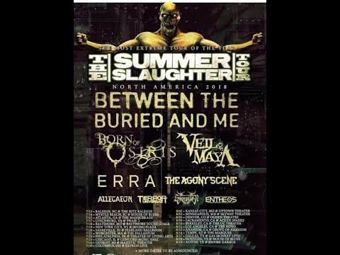 2018 'Summer Slaughter Tour' officially announced and initial dates/venues..!