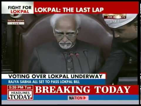 Red Letter day for India: Rajya Sabha passes Lokpal bill