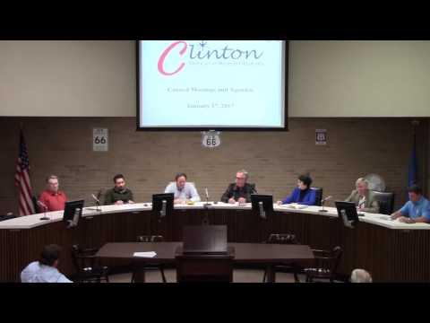 City of Clinton, OK Council Meetings, January 17, 2017