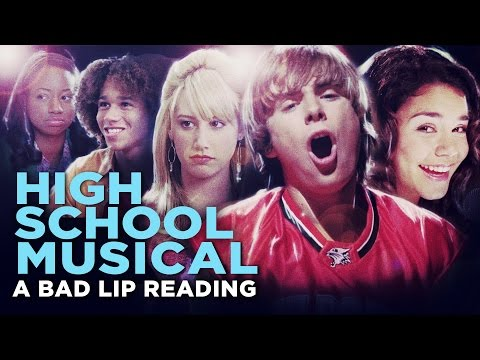 "Thumbnail: ""HIGH SCHOOL MUSICAL: A BAD LIP READING"" -- Bad Lip Reading and Disney XD Present:"