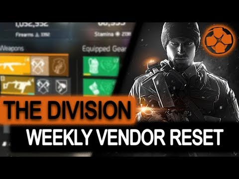 The Division | Weekly Vendor Reset | Item of the Week | December 1, 2017 | Perfect Your Build