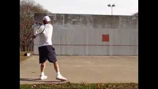 Training on a Concrete Tennis Wall