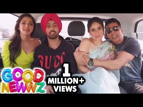 Akshay Kumar's FUNNY Singing Video With Kareena Kapoor, Kiara Advani, Diljit Dosanjh | Good Newwz