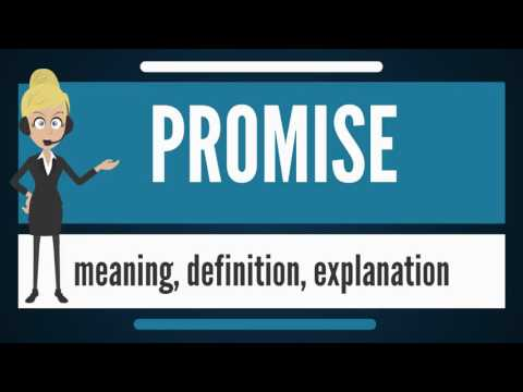 What Is PROMISE? What Does PROMISE Mean? PROMISE Meaning, Definition & Explanation