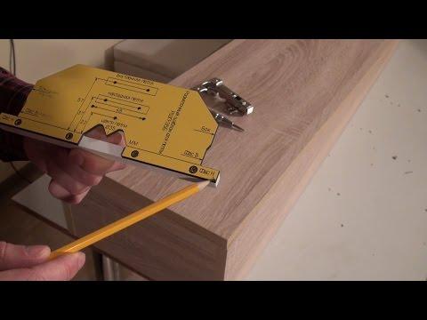 Мебельный шаблон РШП-35Б для разметки и установки петель