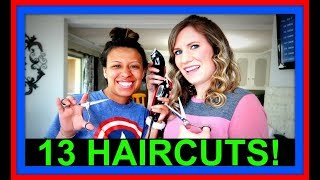 13 HAIRCUTS! | BEFORE AND AFTER!