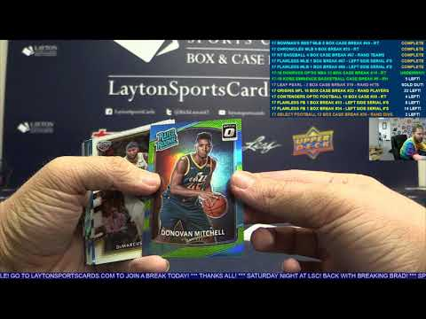 2017 18 Panini Donruss Optic Basketball Hobby 12 Box Case Break #14 – RANDOM TEAMS