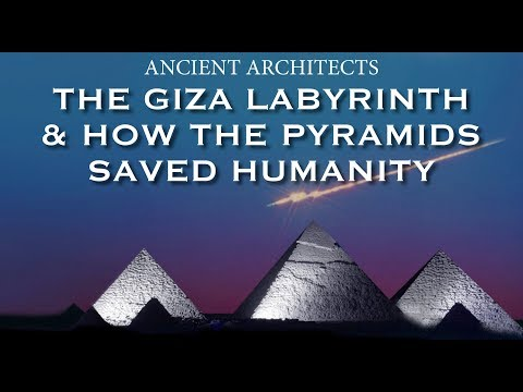 The Giza Labyrinth & How the Pyramids Saved Humanity   Ancient Architects: It was denied for years by the Egyptian authorities but beneath the Giza plateau, underneath the pyramids and the sphinx, is a huge labyrinth of ancient caves and tunnels, some of which are said to date back 15,000 years.  It is an enormous underground world that has been conveniently kept away from the history books, but the entire region of Ancient Memphis, now Giza, sits on top of countless underground chambers and secret tunnels.  In the second part of this video, I present to you how the caves of Egypt and all of the pyramids were in fact constructed to save humanity from an impending global cataclysm at the end of the last Ice Age, and then through the 1,300 year Younger Dryas Event.  All images are taken from Google Images for education purposes only.