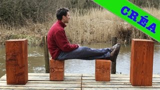 ❒ Improviser Un Tabouret - Wood Stool Block Design