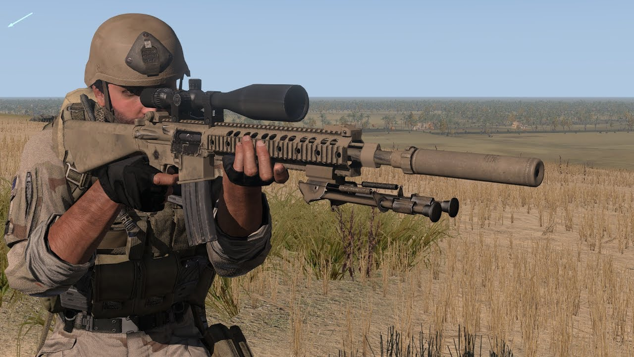 Chris Kyle In Action With Mk12 Mod 1 Spr In Arma 3