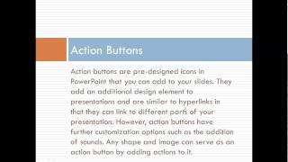 Using Hyperlinks And Action Buttons In Microsoft PowerPoint 2010