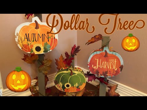 Dollar Tree Fall Pumpkin Sign Diy 2019
