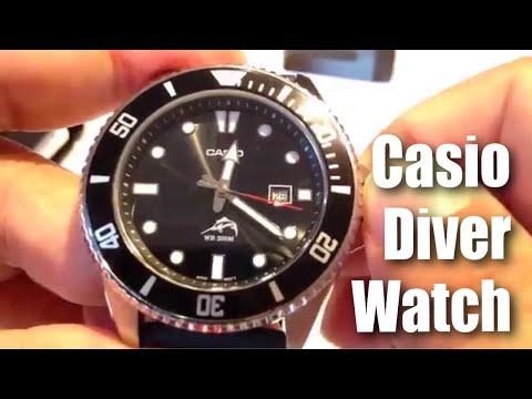 855d7385f Casio MDV106-1A Stainless Steel Divers Watch with rubber band review ...