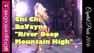 Chi Chi Devayne from RuPaul's Drag Race All Stars 3 and Season 8 River Deep Mountain High