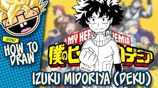 How to Draw IZUKU MIDORIYA / DEKU (My Hero Academia) | Narrated Easy Step-by-Step Tutorial