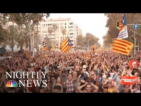 Spain Moves To Take Control Of Catalonia After Defiant Independence Vote | NBC Nightly News