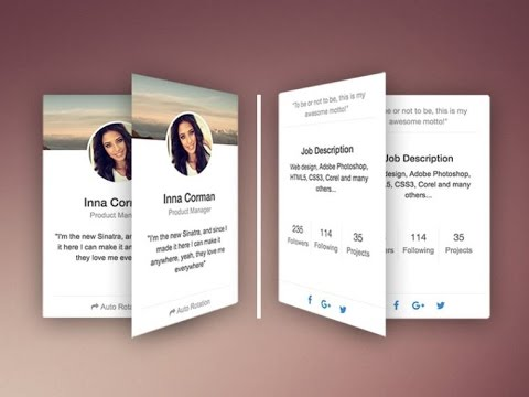 How To Make Responsive Rotating Team Profile Card Using Bootstrap & CSS