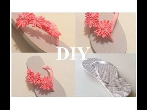 63e993c23d808e DIY  Flips Flop w  Ribbon and Flower Accents - YouTube