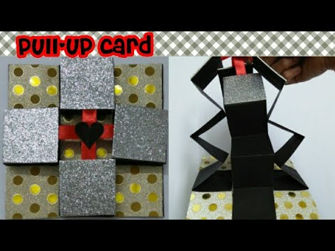 Pull -up card for greetings/DIY/Beautiful attractive front side of greeting card (mrin art)