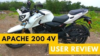 tvs apache rtr 200 4v   user review   must watch