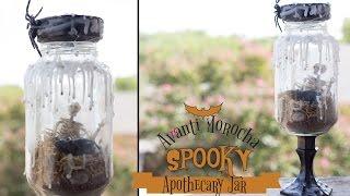 Diy Spooky Apothecary Jar / Adorno De Halloween