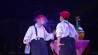 Professional Clowns get laughs with classic slap-stick.