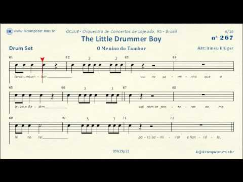 267 - The Little Drummer Boy - (Drum Set)