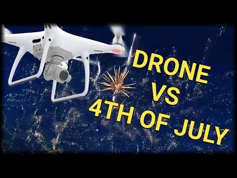 MASSIVE HOME FIREWORKS DISPLAY ALMOST SHOOTS DOWN DRONE IN MIDDLE OF RECORDING - INSANE VIDEO!!!