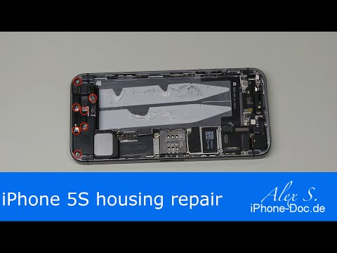 iphone 5s back housing replacement change backcover, repair, DIY