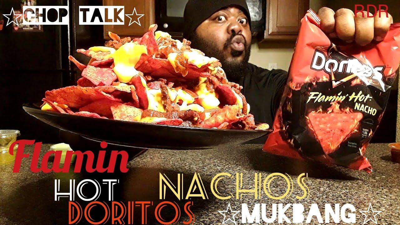 Flamin Hot Doritos Nachos Mukbangchop Talkeating Show