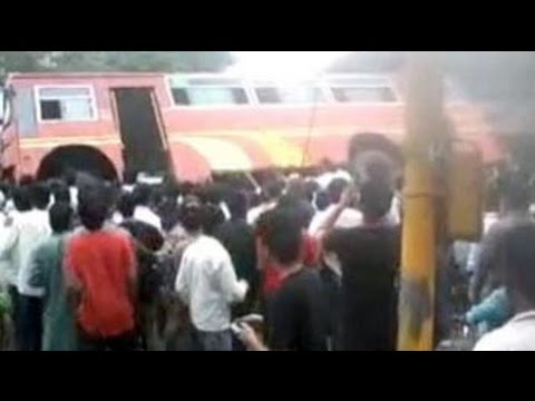 Pune's people power: Group lifts bus to free trapped student