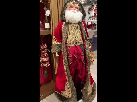 Katherine's Collection Large 6' Life Size Holiday Cheer Santa Doll 28-828217