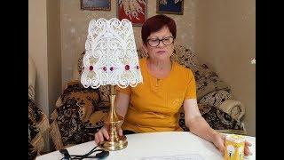 мК - абажур своими руками ////  Master Class - - lamp shade with their hands