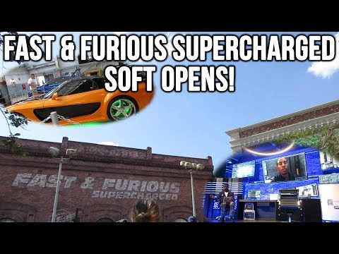 Fast & Furious Supercharged Soft Opens! | Full Queue and Pre-show! | Amanda's Birthday! (4-14-18)