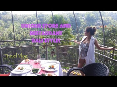 Bali, Indonesia Travel Vlog Day 4.2 - Unqiue Store and Birdnest Lunch, Bali Style