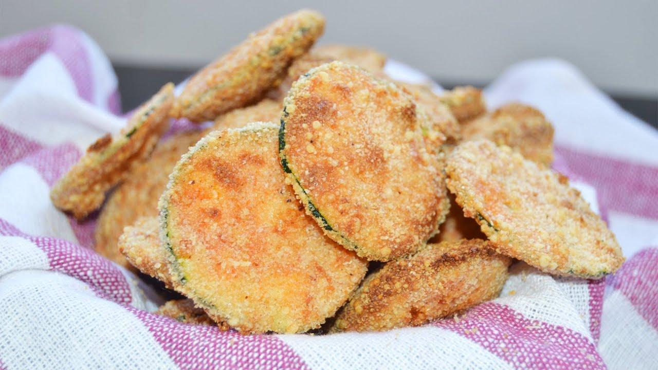 Chips de calabac n y parmesano al horno recetas de - Platos originales y sencillos ...