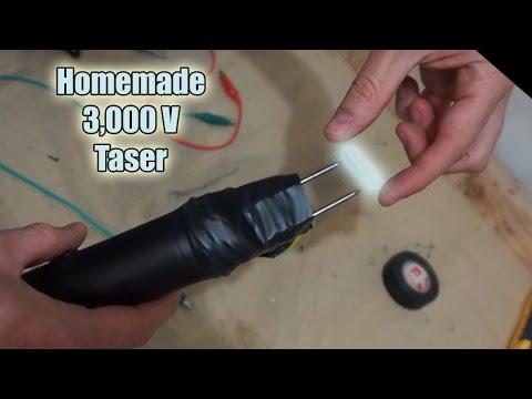 Shocked By Homemade 3,000 Volt Taser| High Voltage Science