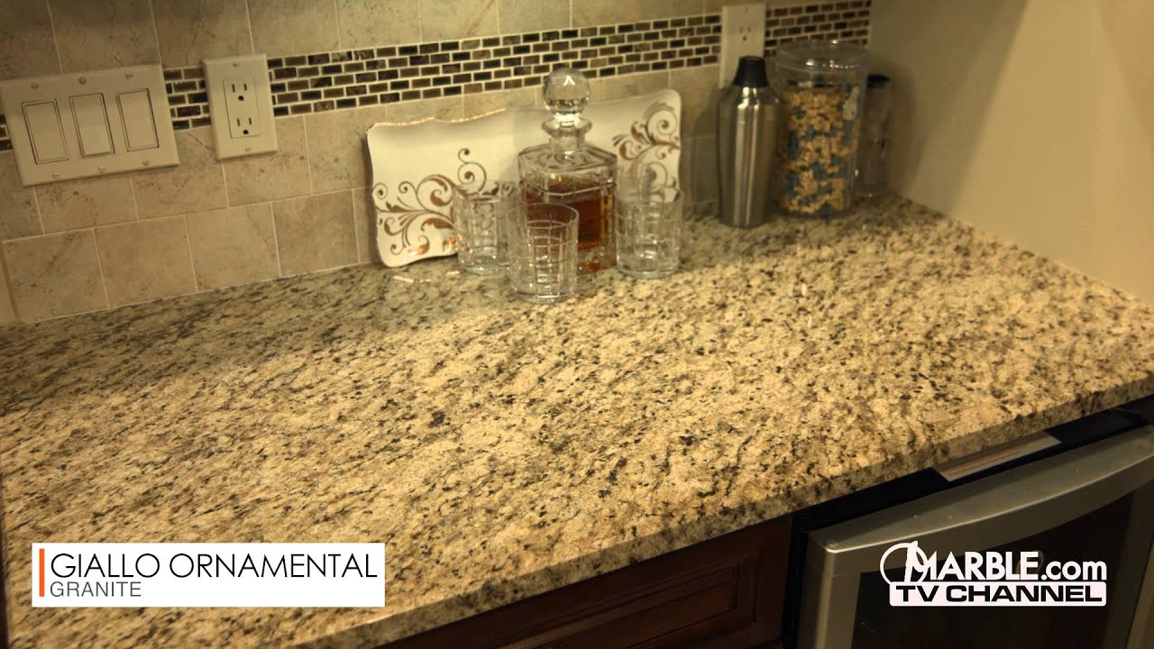 Giallo Ornamental Kitchen Countertops Youtube