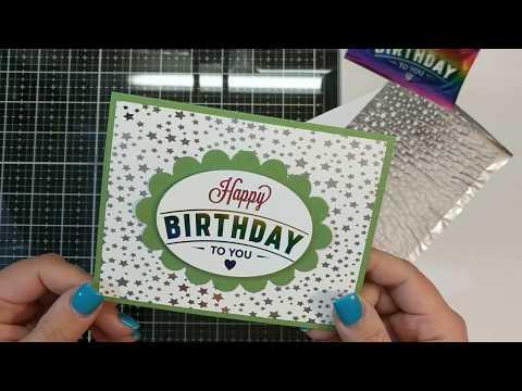 Easy birthday foiled card!