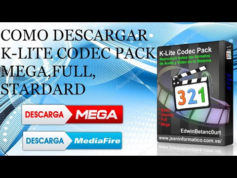 COMO DESCARGAR K-LITE CODEC PACK V15 (MEGA,FULL,STANDARD) [MEGA][MF]