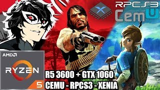Ryzen 5 3600 on CEMU - RPCS3 and Xenia - GTX 1060 - Breath Of The Wild - RDR - 3 Emulators Tested