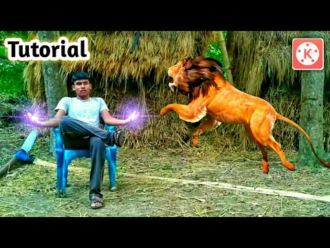 Man and Lion Fighting on KineMaster || Best KineMaster editing on 2018 || KineMaster Best Magic edit