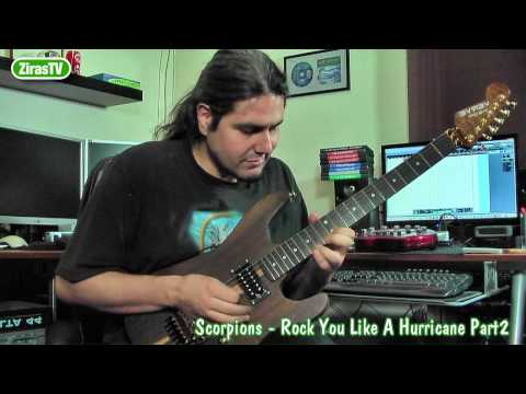 Scorpions-Rock you like a Hurricane Part 2 (Play your own Solo) Guitar Lesson