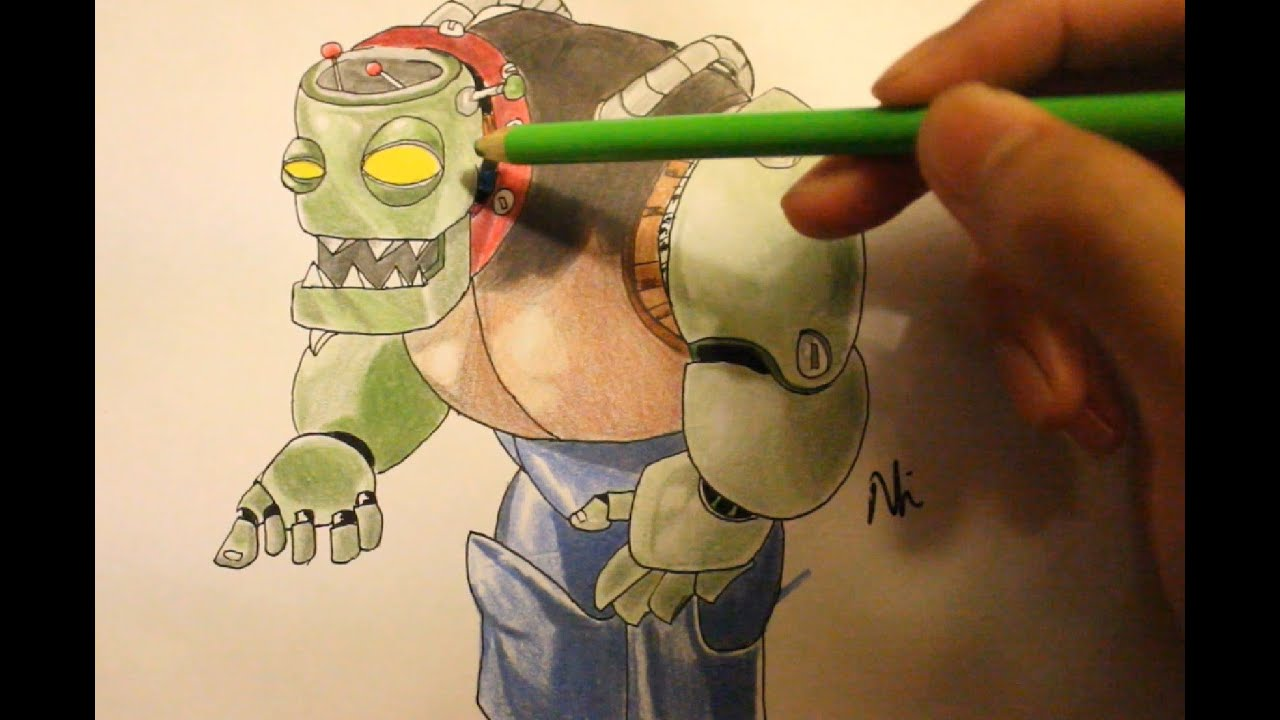 Zombie Face Line Drawing : How to draw dr . zomboss plant vs zombie drawings part 1 youtube
