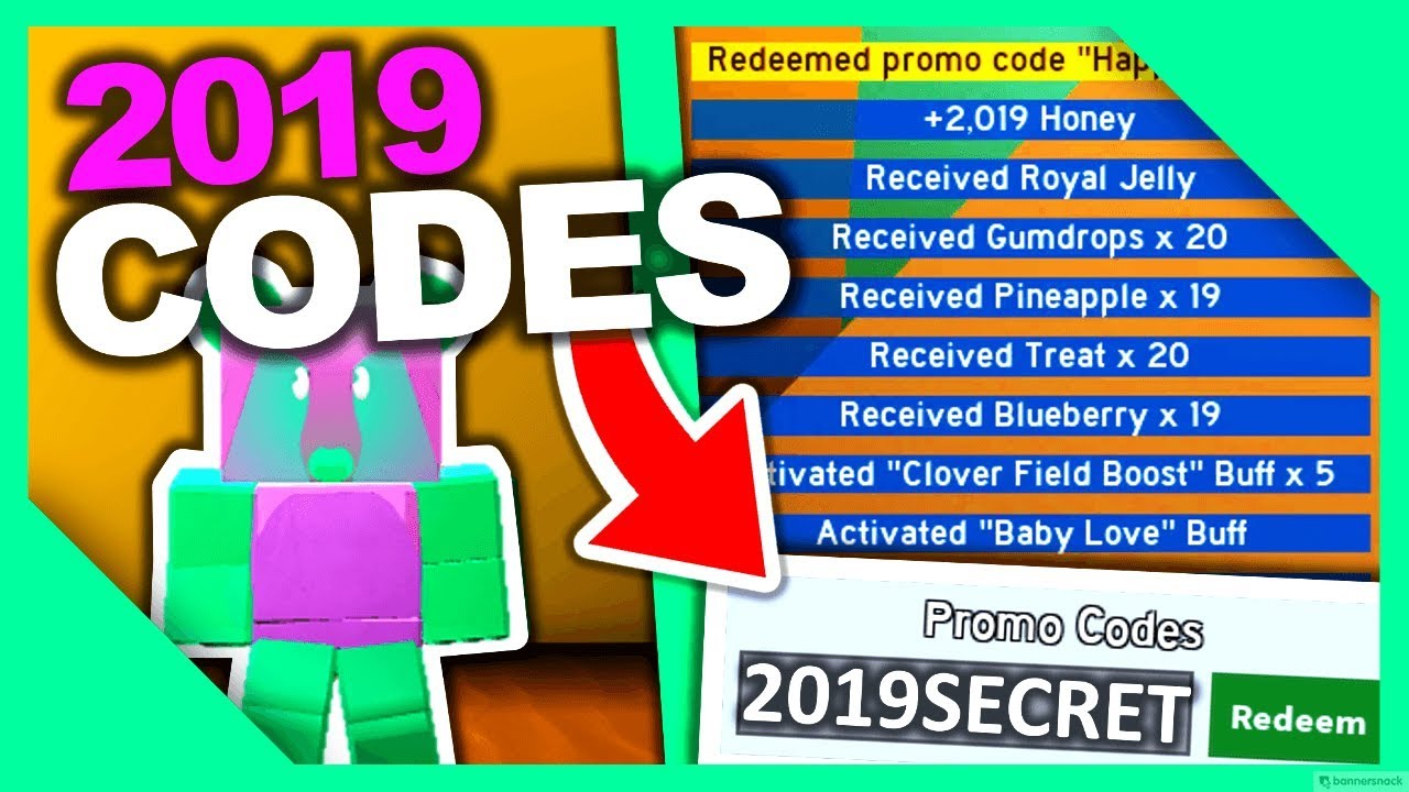 ALL *2019 CODES* FOR BEE SWARM SIMULATOR!!! - YouTube