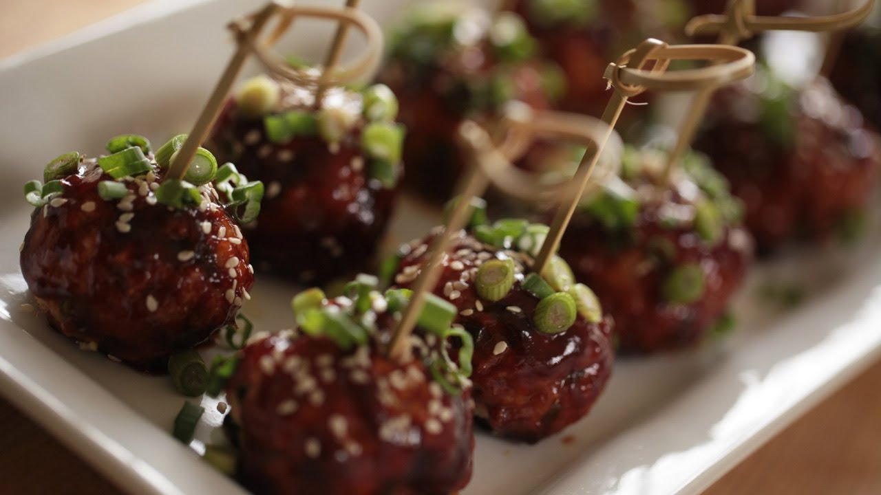 Asian chicken meatball look for